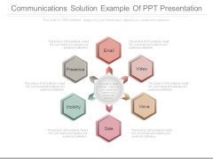Communications Solution Example Of Ppt Presentation