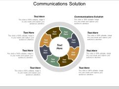 Communications Solution Ppt PowerPoint Presentation Infographic Template Slide Cpb