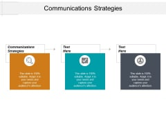 Communications Strategies Ppt PowerPoint Presentation Professional Example Topics Cpb