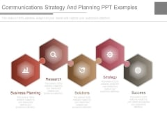 Communications Strategy And Planning Ppt Examples