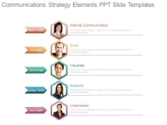 Communications Strategy Elements Ppt Slide Templates