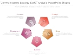 Communications Strategy Swot Analysis Powerpoint Shapes