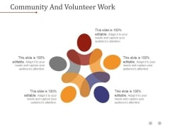 Community And Volunteer Work Ppt PowerPoint Presentation Background Image