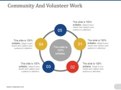 Community And Volunteer Work Ppt PowerPoint Presentation Infographics Smartart