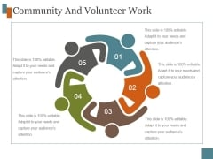 Community And Volunteer Work Ppt PowerPoint Presentation Template