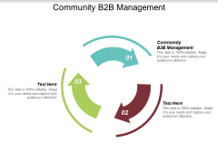 Community B2B Management Ppt PowerPoint Presentation Outline Graphic Tips Cpb