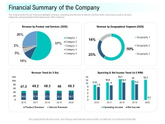 Community Capitalization Pitch Deck Financial Summary Of The Company Template Pdf