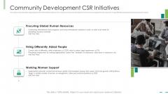 Community Development Csr Initiatives Ppt Ideas Display PDF