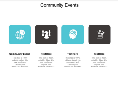 Community Events Ppt PowerPoint Presentation Model Templates Cpb