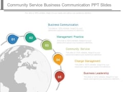 Community Service Business Communication Ppt Slides