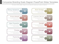 Companies Branding Goals Diagram Powerpoint Slides Templates