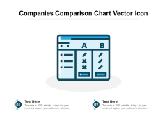 Companies Comparison Chart Vector Icon Ppt PowerPoint Presentation Files PDF