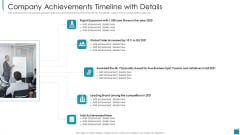 Company Achievements Timeline With Details Graphics PDF