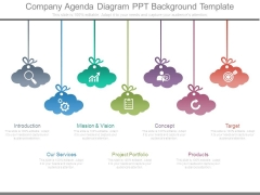 Company Agenda Diagram Ppt Background Template