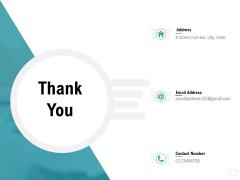 Company Amalgamation Thank You Ppt Outline Brochure PDF