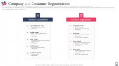 Company And Customer Segmentation Ppt Infographic Template Portfolio PDF