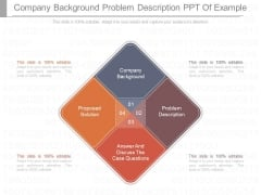 Company Background Problem Description Ppt Of Example
