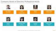 Company Board Of Directors Professional Heads Ppt Infographics Show PDF