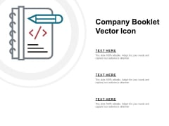 Company Booklet Vector Icon Ppt PowerPoint Presentation Gallery File Formats