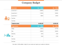 Company Budget Ppt PowerPoint Presentation Layouts Sample