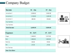 Company Budget Ppt PowerPoint Presentation Model