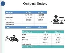 Company Budget Ppt PowerPoint Presentation Outline Structure