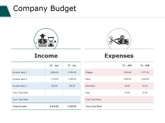 Company Budget Ppt PowerPoint Presentation Summary Graphic Tips