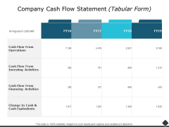 Company Cash Flow Statement Ppt PowerPoint Presentation File Shapes