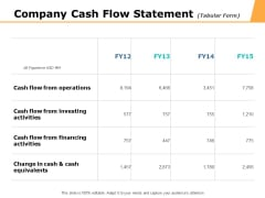 Company Cash Flow Statement Ppt PowerPoint Presentation Icon Structure