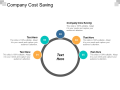 Company Cost Saving Ppt Powerpoint Presentation Deck Cpb