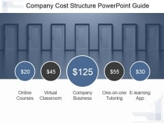 Company Cost Structure Ppt PowerPoint Presentation Influencers