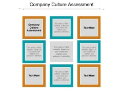 Company Culture Assessment Ppt PowerPoint Presentation Professional Example