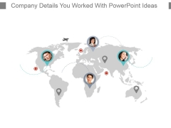 Company Details You Worked With Powerpoint Ideas