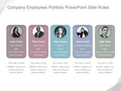 Company Employees Portfolio Ppt PowerPoint Presentation Deck
