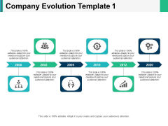 Company Evolution Ppt PowerPoint Presentation Summary Slide Download