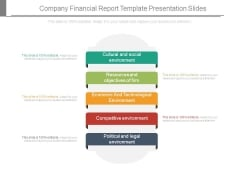Company Financial Report Template Presentation Slides