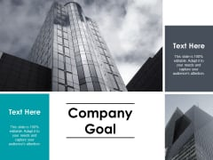 Company Goal Business Ppt PowerPoint Presentation Infographic Template Shapes