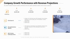 Company Growth Performance With Revenue Projections Ppt Outline Brochure PDF