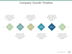 Company Growth Timeline Ppt PowerPoint Presentation Graphics