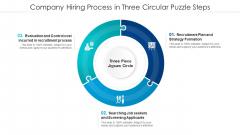 Company Hiring Process In Three Circular Puzzle Steps Professional PDF