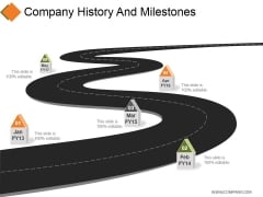 Company History And Milestones Ppt PowerPoint Presentation File Layouts