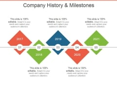 Company History And Milestones Template 1 Ppt PowerPoint Presentation Model Ideas