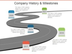 Company History And Milestones Template 2 Ppt PowerPoint Presentation Icon Outfit