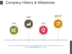 Company History And Milestones Template 2 Ppt PowerPoint Presentation Outline Portrait