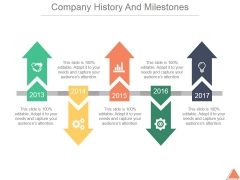 Company History And Milestones Template 2 Ppt PowerPoint Presentation Topics