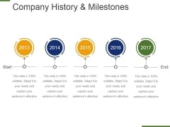 Company History And Milestones Template 3 Ppt PowerPoint Presentation Gallery Mockup