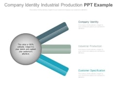 Company Identity Industrial Production Ppt Example