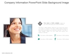Company Information Powerpoint Slide Background Image