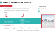 Company Introduction And Overview Ppt Layouts Show PDF