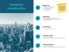 Company Introduction Capabilities Ppt PowerPoint Presentation Show Visuals